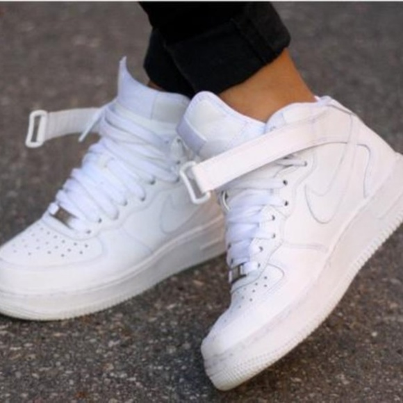 Nike Shoes White Air Force 1 High Tops Size 85 Poshmark